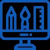 icono web azul